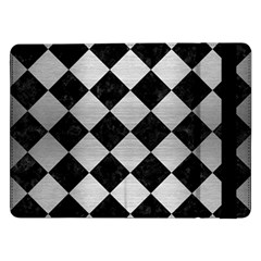 Square2 Black Marble & Silver Brushed Metal Samsung Galaxy Tab Pro 12 2  Flip Case by trendistuff