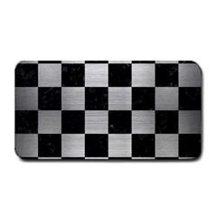Square1 Black Marble & Silver Brushed Metal Medium Bar Mat by trendistuff