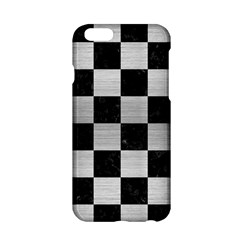 Square1 Black Marble & Silver Brushed Metal Apple Iphone 6/6s Hardshell Case by trendistuff