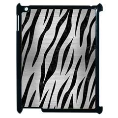 Skin3 Black Marble & Silver Brushed Metal (r) Apple Ipad 2 Case (black) by trendistuff