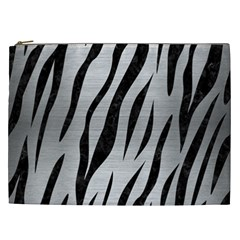 Skin3 Black Marble & Silver Brushed Metal (r) Cosmetic Bag (xxl) by trendistuff