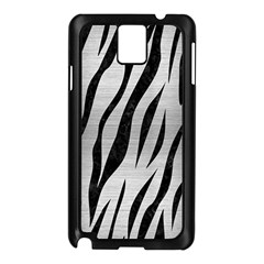 Skin3 Black Marble & Silver Brushed Metal (r) Samsung Galaxy Note 3 N9005 Case (black) by trendistuff