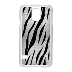 Skin3 Black Marble & Silver Brushed Metal (r) Samsung Galaxy S5 Case (white) by trendistuff