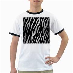 SKN3 BK MARBLE SILVER Ringer T-Shirts by trendistuff