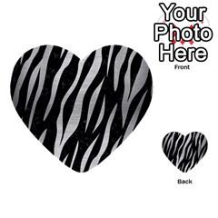 Skin3 Black Marble & Silver Brushed Metal Multi Purpose Cards (heart) by trendistuff