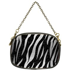 Skin3 Black Marble & Silver Brushed Metal Chain Purse (one Side) by trendistuff
