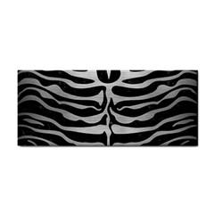 Skin2 Black Marble & Silver Brushed Metal Hand Towel by trendistuff