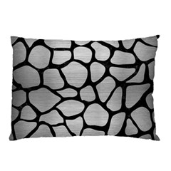 SKN1 BK MARBLE SILVER Pillow Cases by trendistuff