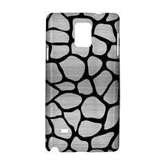 Skin1 Black Marble & Silver Brushed Metal Samsung Galaxy Note 4 Hardshell Case