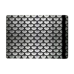 Scales3 Black Marble & Silver Brushed Metal (r) Apple Ipad Mini Flip Case by trendistuff