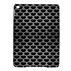 Scales3 Black Marble & Silver Brushed Metal Apple Ipad Air 2 Hardshell Case by trendistuff