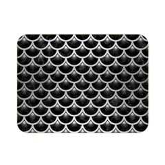 Scales3 Black Marble & Silver Brushed Metal Double Sided Flano Blanket (mini)