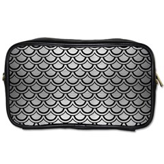 Scales2 Black Marble & Silver Brushed Metal (r) Toiletries Bag (two Sides) by trendistuff
