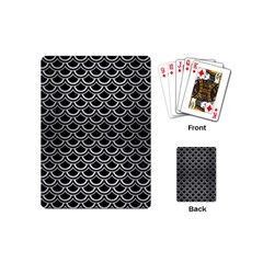 SCA2 BK MARBLE SILVER Playing Cards (Mini)  by trendistuff