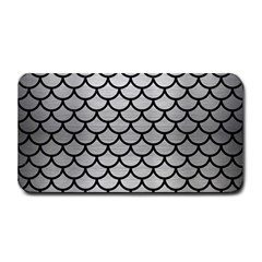 Scales1 Black Marble & Silver Brushed Metal (r) Medium Bar Mat by trendistuff