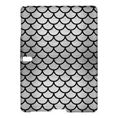 Scales1 Black Marble & Silver Brushed Metal (r) Samsung Galaxy Tab S (10 5 ) Hardshell Case  by trendistuff