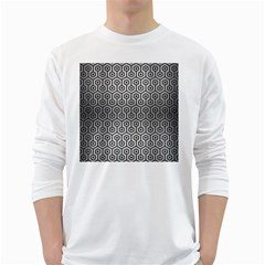 HXG1 BK MARBLE SILVER (R) White Long Sleeve T-Shirts by trendistuff