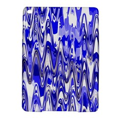 Funky Chevron Blue iPad Air 2 Hardshell Cases by MoreColorsinLife