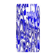 Funky Chevron Blue Samsung Galaxy Alpha Hardshell Back Case by MoreColorsinLife