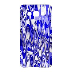 Funky Chevron Blue Samsung Galaxy A5 Hardshell Case  by MoreColorsinLife