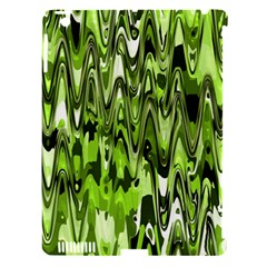 Funky Chevron Green Apple Ipad 3/4 Hardshell Case (compatible With Smart Cover) by MoreColorsinLife