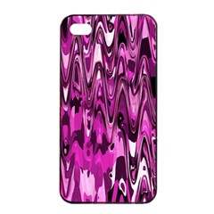 Funky Chevron Hot Pink Apple Iphone 4/4s Seamless Case (black) by MoreColorsinLife