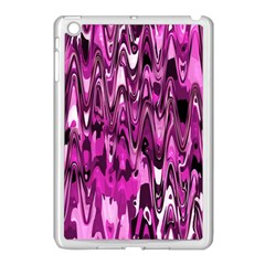 Funky Chevron Hot Pink Apple Ipad Mini Case (white) by MoreColorsinLife