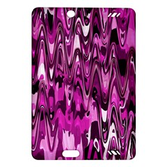 Funky Chevron Hot Pink Kindle Fire Hd (2013) Hardshell Case by MoreColorsinLife
