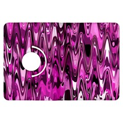 Funky Chevron Hot Pink Kindle Fire Hdx Flip 360 Case by MoreColorsinLife