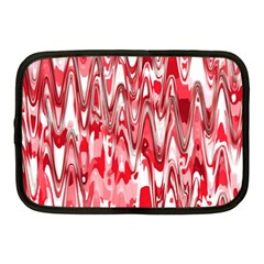 Funky Chevron Red Netbook Case (medium)  by MoreColorsinLife