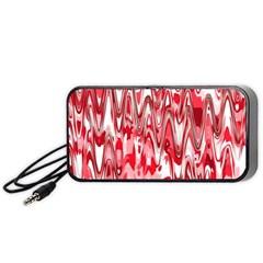 Funky Chevron Red Portable Speaker (black)
