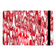 Funky Chevron Red Samsung Galaxy Tab Pro 10 1  Flip Case by MoreColorsinLife