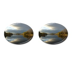 View   On The Lake Cufflinks (oval) by Costasonlineshop