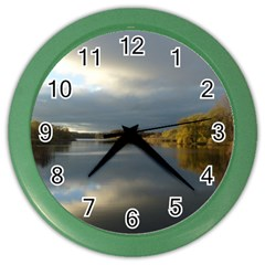 View   On The Lake Color Wall Clocks by Costasonlineshop