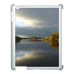 View   On The Lake Apple Ipad 3/4 Case (white) by Costasonlineshop