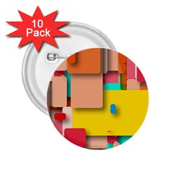 Rounded Rectangles 2.25  Buttons (10 pack)  by hennigdesign