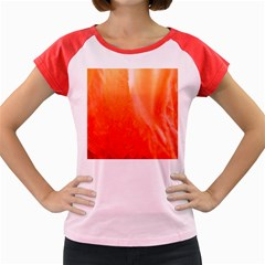 Floating Orange Women s Cap Sleeve T-Shirt by timelessartoncanvas