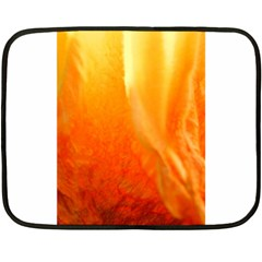 Floating Orange And Yellow Fleece Blanket (mini) by timelessartoncanvas