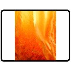 Floating Orange And Yellow Fleece Blanket (large)  by timelessartoncanvas