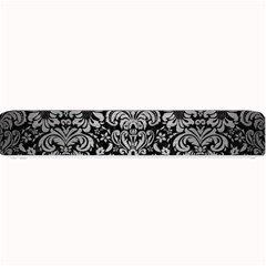 Damask2 Black Marble & Silver Brushed Metal Small Bar Mat by trendistuff