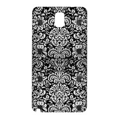 Damask2 Black Marble & Silver Brushed Metal Samsung Galaxy Note 3 N9005 Hardshell Back Case by trendistuff