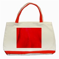 Red And Beautiful Classic Tote Bag (red) by timelessartoncanvas