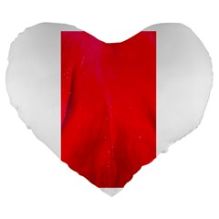 Red And Beautiful Large 19  Premium Flano Heart Shape Cushions by timelessartoncanvas