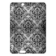 Damask1 Black Marble & Silver Brushed Metal (r) Kindle Fire Hdx Hardshell Case by trendistuff