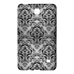 Damask1 Black Marble & Silver Brushed Metal (r) Samsung Galaxy Tab 4 (7 ) Hardshell Case  by trendistuff