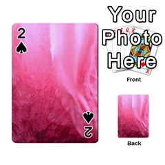 Floating Pink Playing Cards 54 Designs  by timelessartoncanvas