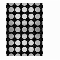 Circles1 Black Marble & Silver Brushed Metal Large Garden Flag (two Sides) by trendistuff