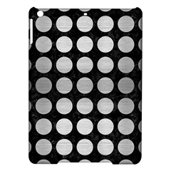 Circles1 Black Marble & Silver Brushed Metal Apple Ipad Air Hardshell Case by trendistuff