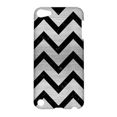 Chevron9 Black Marble & Silver Brushed Metal (r) Apple Ipod Touch 5 Hardshell Case by trendistuff