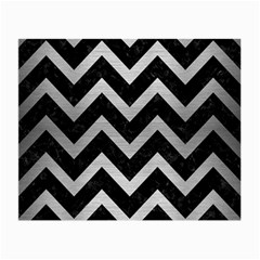 Chevron9 Black Marble & Silver Brushed Metal Small Glasses Cloth by trendistuff